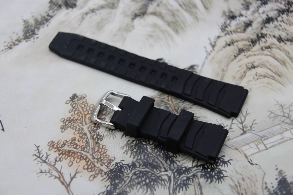 Quality Watchband Black Silicone Rubber Bracelet for Casio PRG-80/PRW-1000/PRW-1100/PAG-80 watches accessories ��лектронные часы casio sport prw 3500 1e black