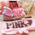 Mujeres carta briefs transpirable cozy underwear boxer rosa bragas boyshort de algodón de baja altura ladies underwear para mujeres adolescentes