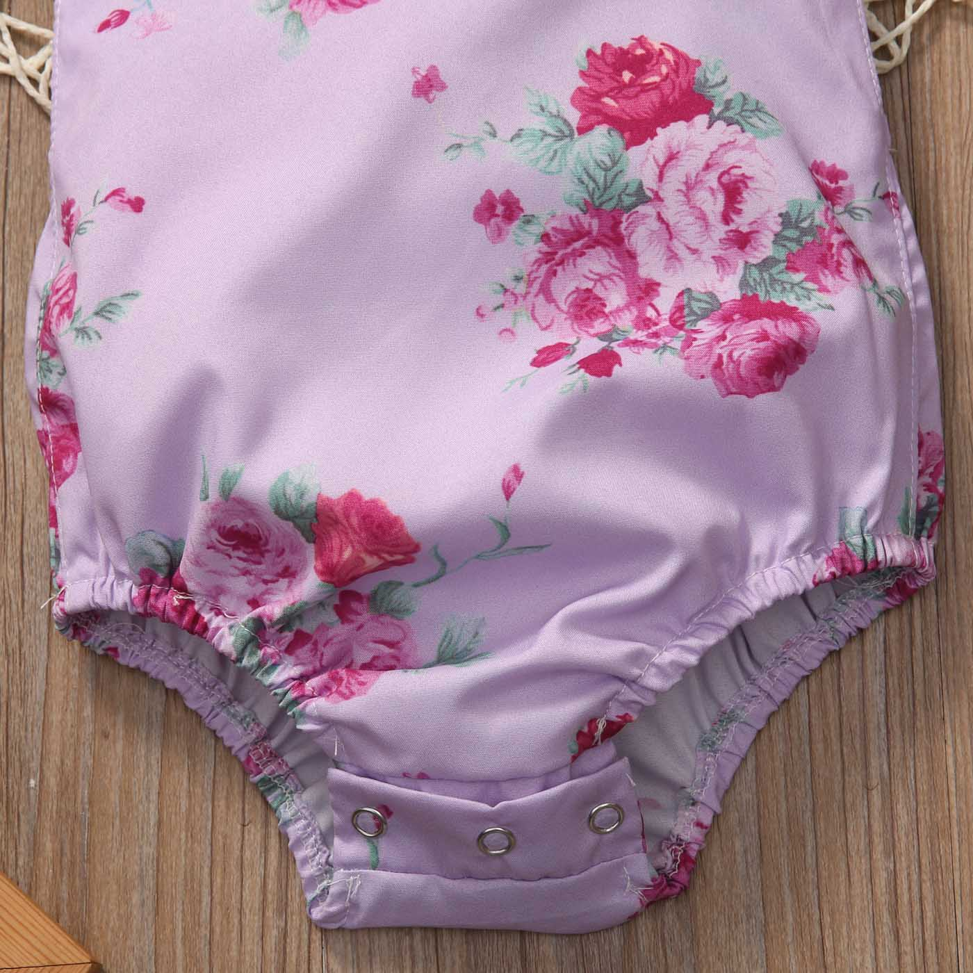 Newborn Toddler Cute Baby Girl Clothes Fioral Printed Fille Joli