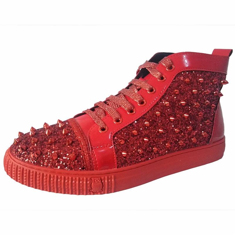Sapatos De Plana Inglaterra Martin Club Tornozelo Night Moda Estilo Rebites Homens Plataforma Couro Zapatos Stage Do Punk Vaca Dos Sapato Vestidos Botas ZxZ7BYw