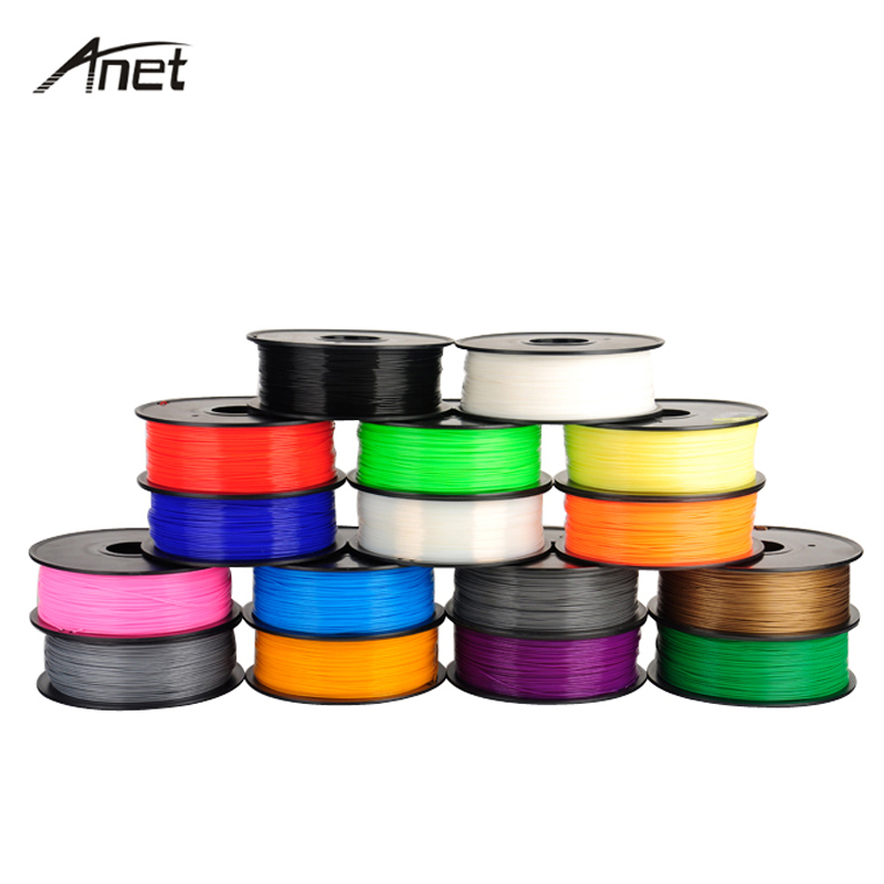 5 Colors 1KG ABS PLA 3D Printer Filament 1.75mm Plastic Rubber Consumables Material for 3D Printer/3D Pen/Reprap/Makerbot