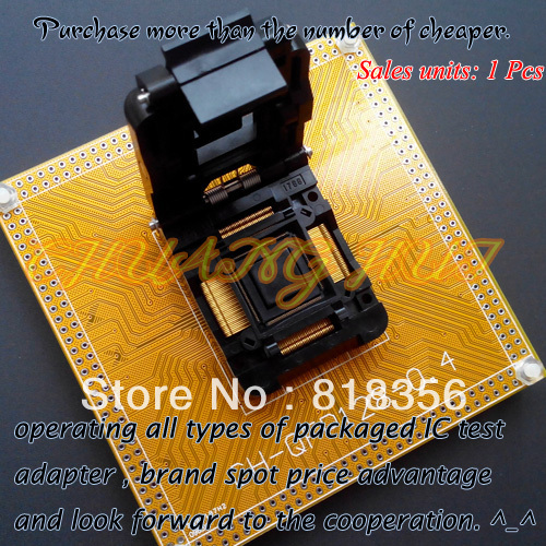IC TEST IC51-1284-1788 Test Socket TQFP128/QFP128/FPQ128 Adapter CH-QFP128-0.4 IC SOCKET Pitch:0.4mm