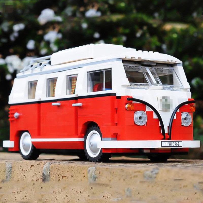 2016 New LEPIN 21001 1354Pcs Volkswagen T1 Camper Van Model Building Kits Bricks DIY Blocks Toys