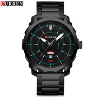 CURREN Mens Watches Top Brand Luxury Sport Quartz Watch 3ATM Waterproof Men S Stainless Steel Wrist