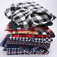 EYM Brand Flannel Plaid Shirt Men Cotton 2017 Autumn New Male Casual Long Sleeve Shirt Plus