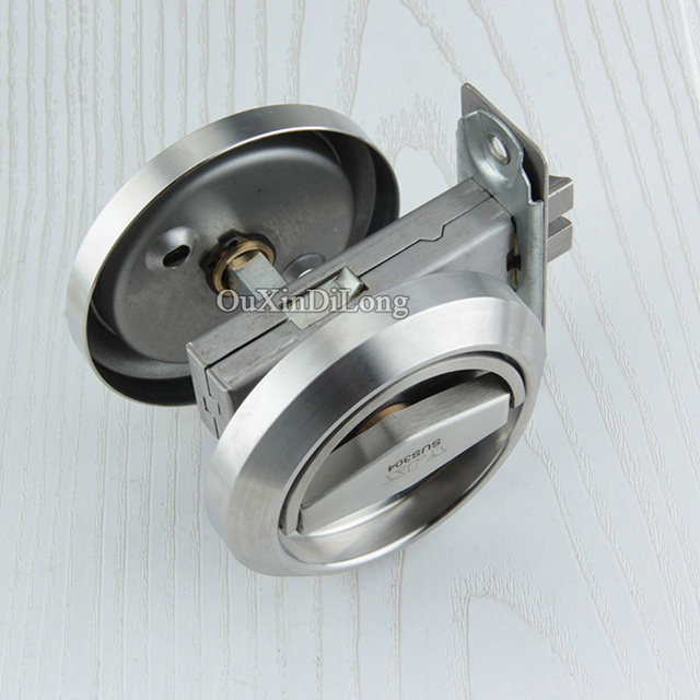 Charmant High Quality 304 Stainless Steel Cup Handle Recessed Door Lock Fire Proof  Set Disk Ring Locks