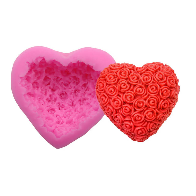 Silicone Tools LOVE Heart Star Baking Chocolate Mould Valentine/'s Day Making N7