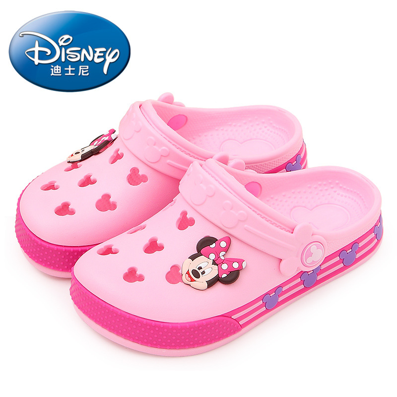 2019 Disney Minnie Children's Hole Shoes Summer Boys And Girls Slippers Mickey Minnie Children's Beach Shoes