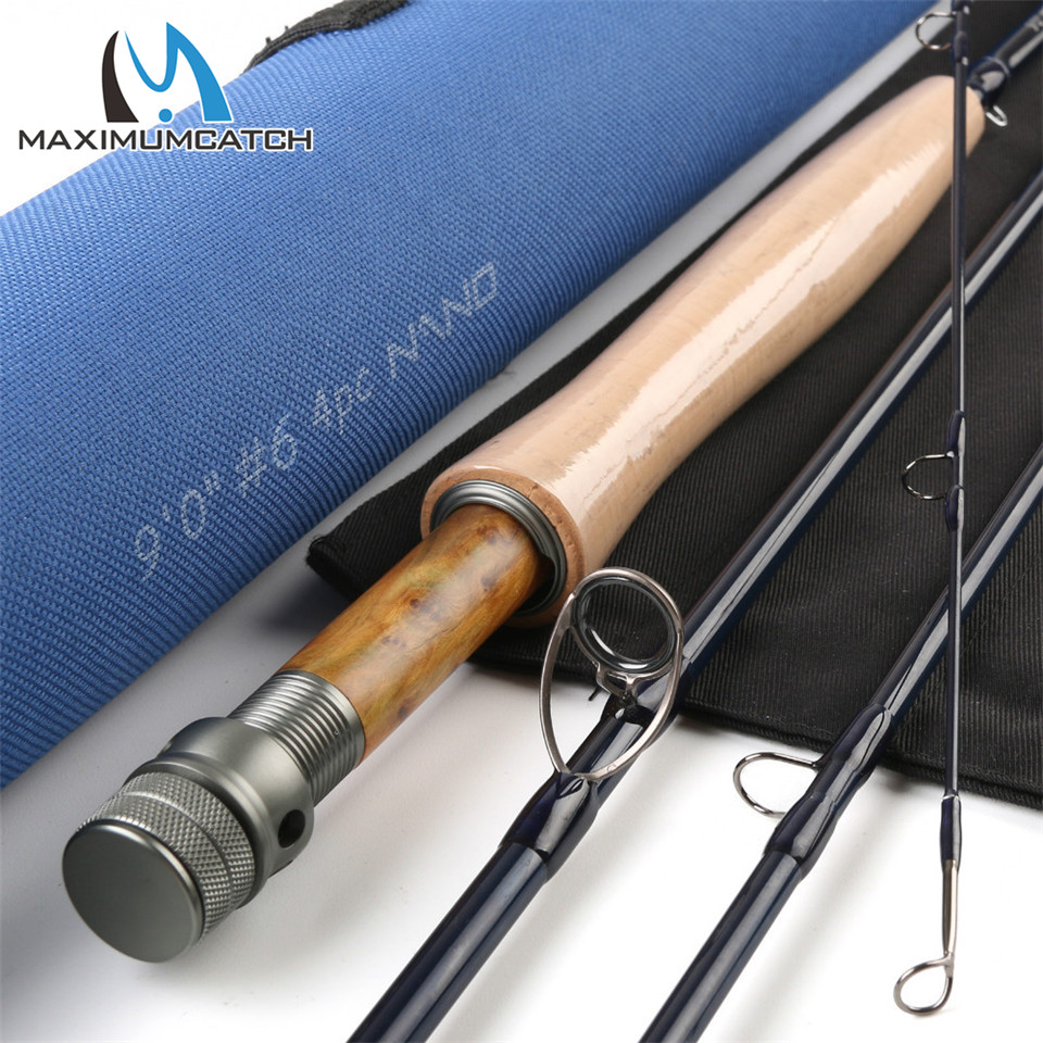 Maximumcatch NANO 9ft 6wt 4pcs FAST ACTION Fly rod IM12/46 Toray Japan Carbon Fiber Fly fishing rod with Cordura tube maximumcatch brand nano fly fishing rod 8 4ft 3wt 4pcs with cordura tube nano fly rod
