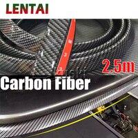 LENTAI 1Set Auto Car Front Chin Spoiler Carbon Stickers For Citroen C4 C5 Hyundai Solaris VW Polo T5 Ford Fiesta Fusion Mustang