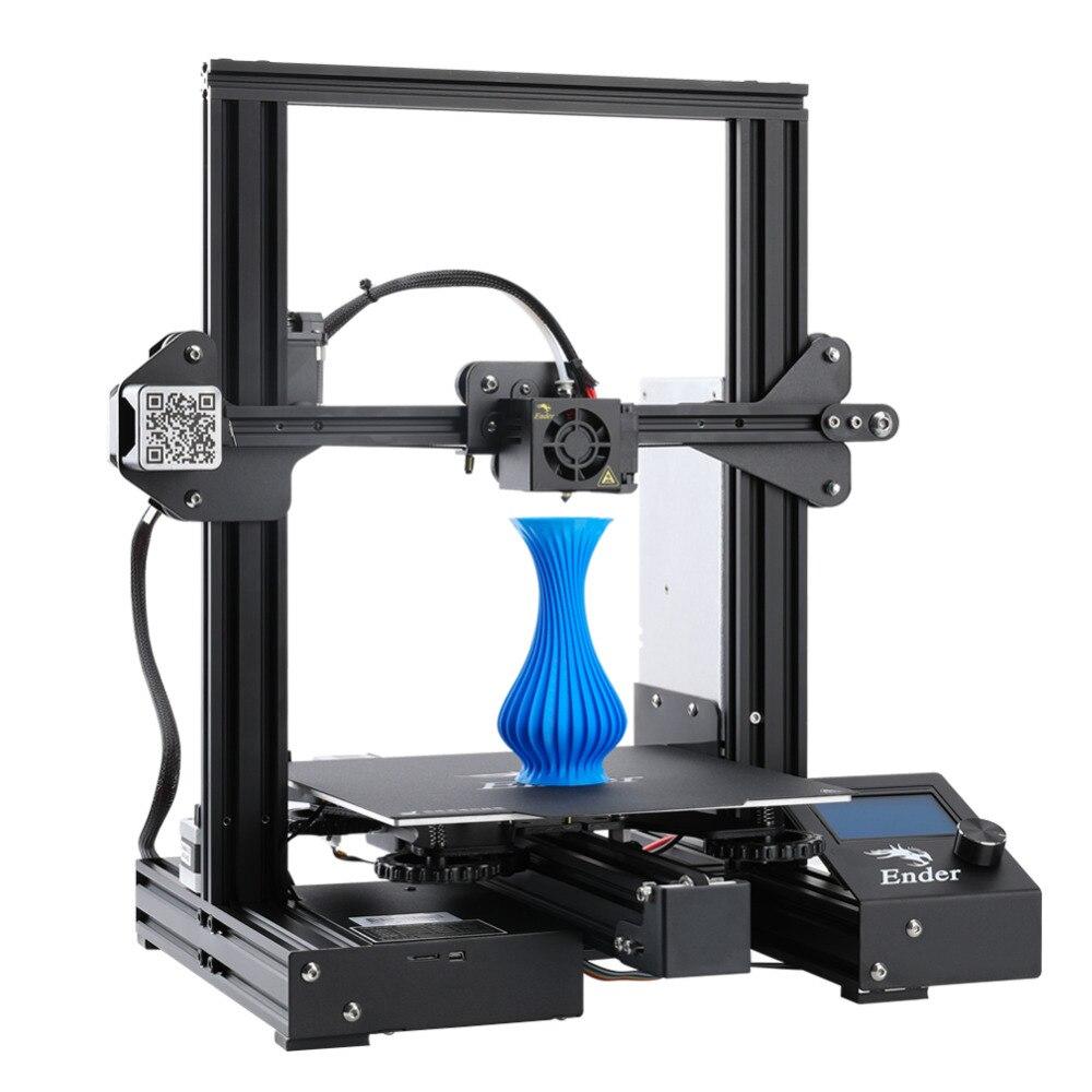 Ender-3 PRo kit de bricolage imprimante 3D mis à niveau caimant plaque de construction reprendre panne de courant impression créalité 3D pritner grande taille d'impression