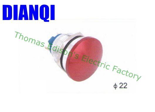 все цены на Free shipping 22mm metal mushroom push button waterproof Zn-al Alloy press button switch momentary 1NO 22MG/HJ.F.C онлайн