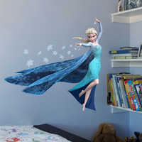 Cartoon Elsa Queen Snowflakes Frozen 2 Movie Wall Stickers For Kids Room Home Decoration DIY Girls Room Anime Mural PVC Poster