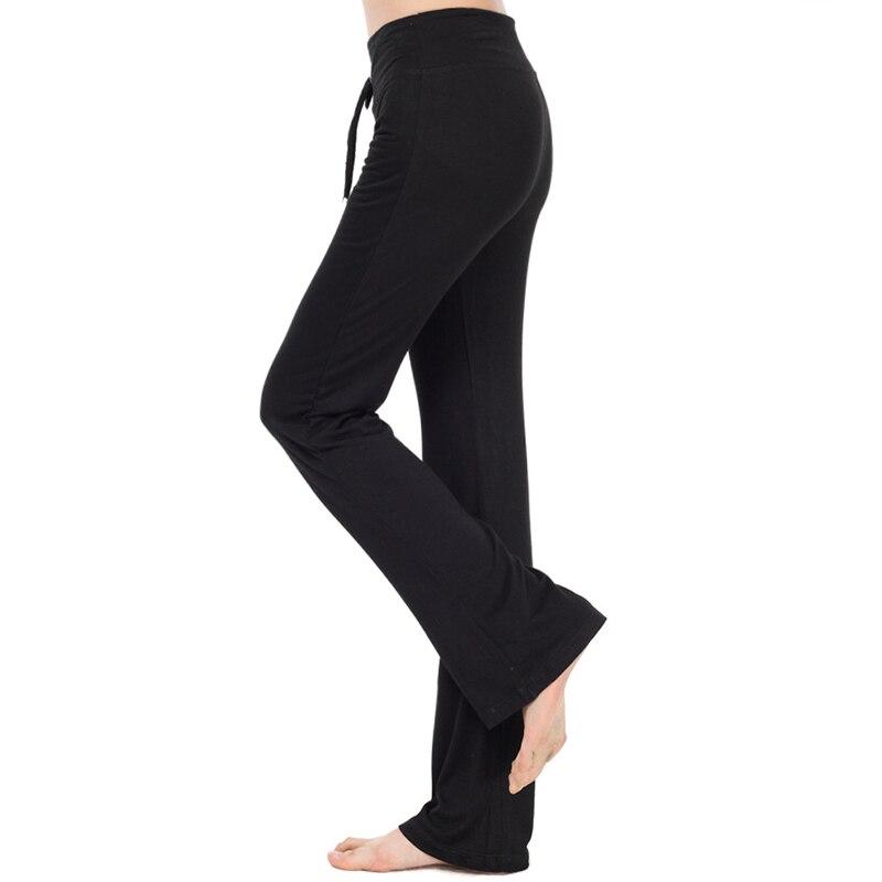 Sport Wide Leg Pants Modal High Waist Stretch Women Flare Pants Dance Club Loose Long Trousers (2)