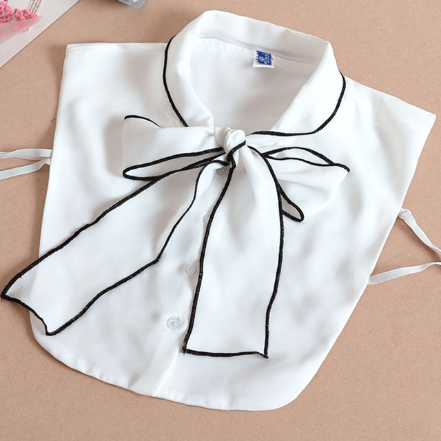 Fashion false shirt collar Bowknot decorated fake collar chiffon spring autumn winter removable collares sweetie cool blouse