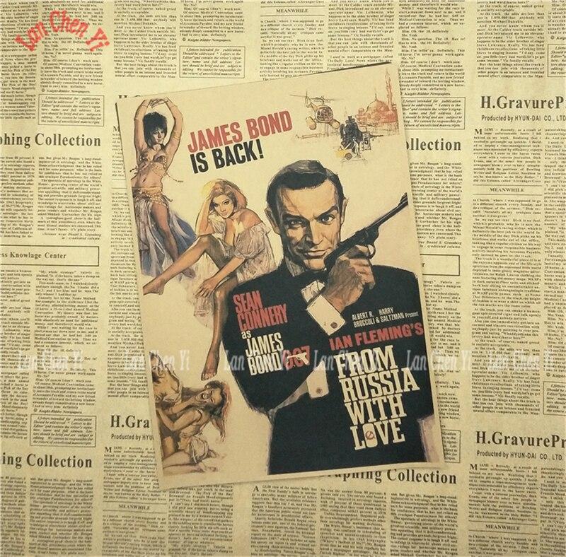 James Bond 007 Serie 1 Klassisk Film Kraftpapper Poster Vintage - Heminredning - Foto 4