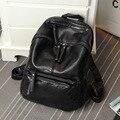 2016 New Fashion Cool Unisex Backpack Genuine Lenther Men/Women's School Bag Band Backpack For Teenager Girls Travel Zipper Bag