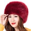 Nuevas Mujeres Calientes Del Invierno Suave Mullido Faux Fur Sombrero Cosaco Ruso Gorros Casquillo de Las Señoras Sombreros de Esquí