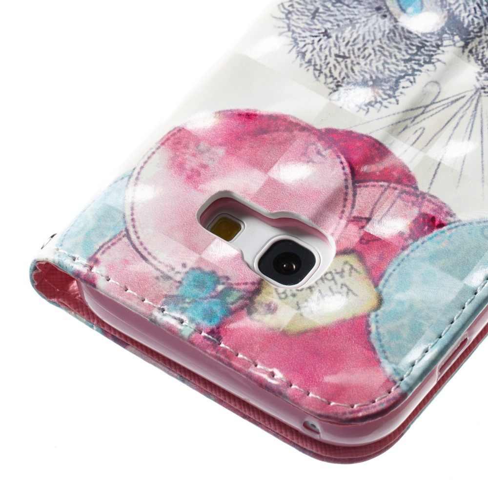 3D печатных, рубашка с изображением фламинго пони медведь Ловец бабочек откидной Чехол-кошелек с подставкой из искусственной кожи чехол для Samsung Galaxy A3 A5 J3 J510 J710 J730