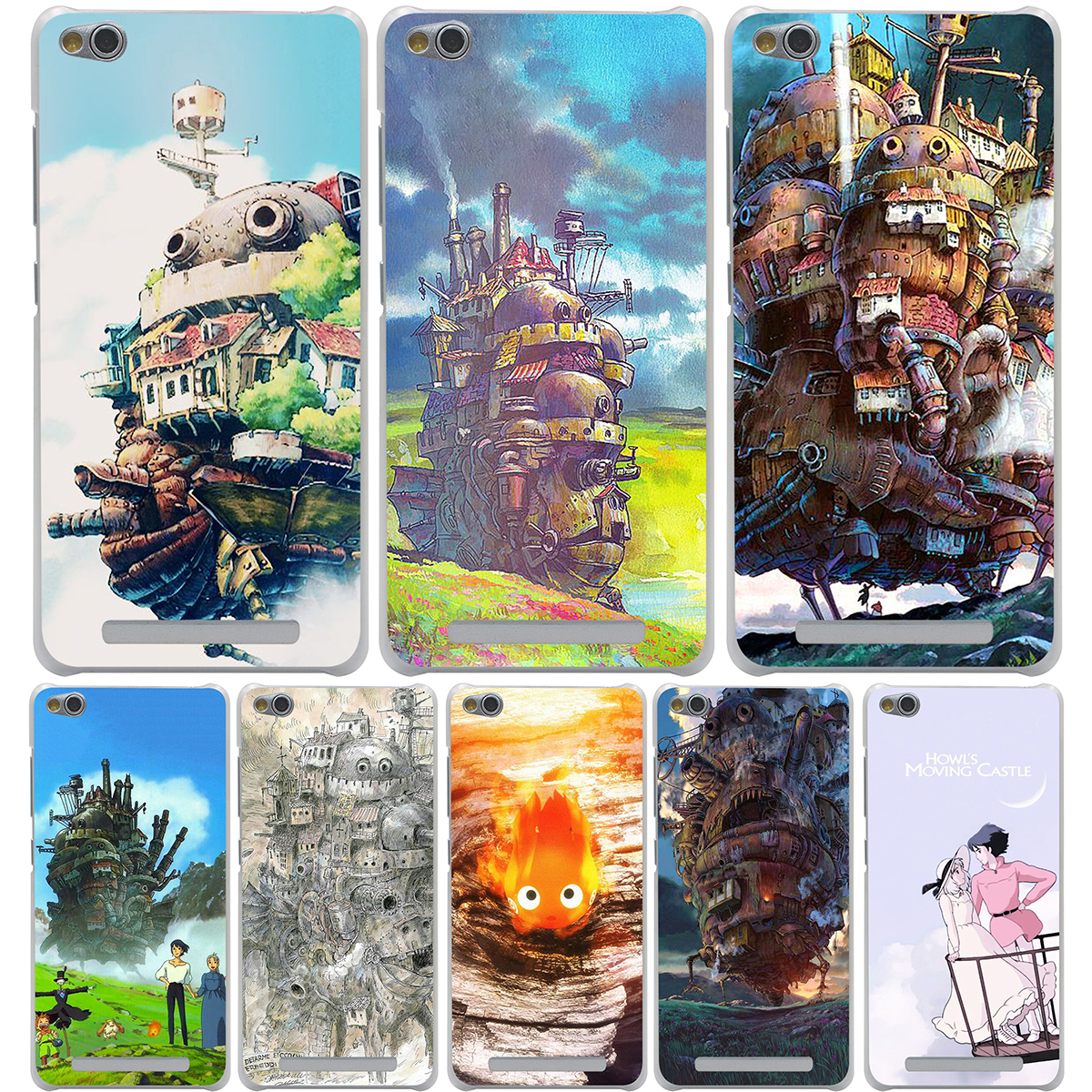Howls Moving Castle Hard Transparent Cover Case for Meizu M2 Mini M2 M3 Note & Redmi 3 Pro 3S Note 2 3 Pro
