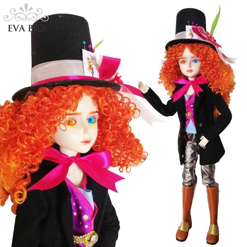 """24 """"conjunto completo + EVA BJD loco sombrerero Cosplay 1/3 de la muñeca de BJD SD muñeca 60 cm 24"""" figura de juguete de muñecas articuladas + sombrero de accesorios completos-in Muñecas from Juguetes y pasatiempos on AliExpress - 11.11_Double 11_Singles' Day 1"""