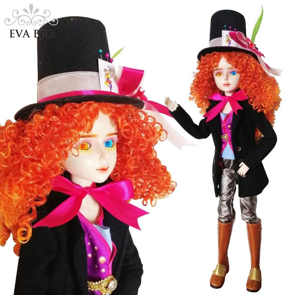 """24 """"pełny zestaw + EVA BJD szaleńca kapelusznik Cosplay 1/3 lalki BJD SD lalki 60 cm 24"""" stykowo lalki figurka zabawkowa + pełna akcesoria kapelusz w Lalki od Zabawki i hobby na AliExpress - 11.11_Double 11Singles' Day 1"""