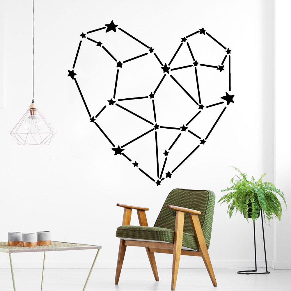 Creative heart Home Decoration Accessories For Baby 39 s Rooms Pvc Wall Decals in Wall Stickers from Home amp Garden