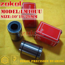 ZOKOL LM10 UU teniendo LM10UU rodamiento de movimiento lineal 10*19*29mm