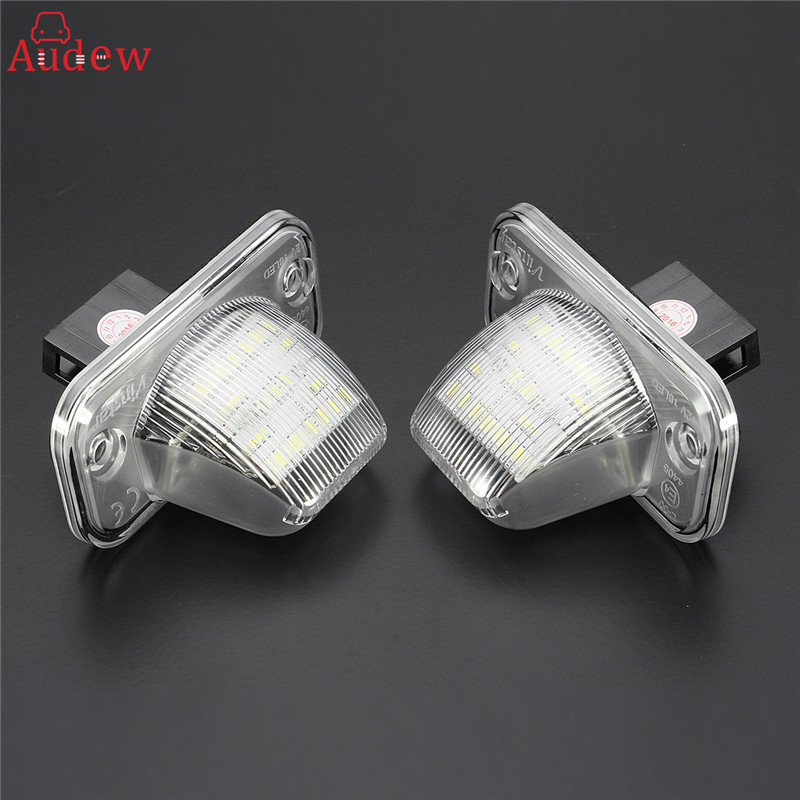 2Pcs 18 LED License Plate Light Number Plate Lamp For Volkswagen/VW/T4/Transporter/Passat Error Free  2x error free led license plate light for volkswagen vw passat 5d passat r36 08