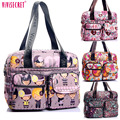 Women Nylon Waterproof Cartoon Floral Printing Shoulder Messenger Bags Cossbody Satchels Travel Mother's Bag Bolsos mujer