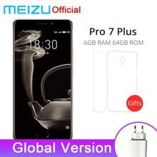 Resmi Küresel Sürüm Meizu Pro 7 Artı 6 GB Ram 64 GB Rom Cep Telefonu Helio X30 5.7 ''2560x1440 P Çift Arka 12.0MP 3500 mAh