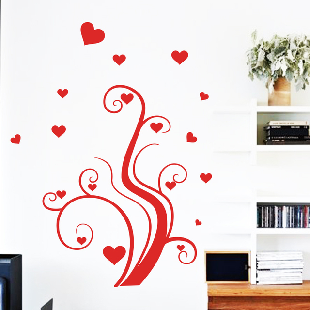 art app new design romantic removable home decor beautiful love