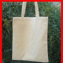 1pcs/lot  eco-friendly natural black white cotton shopping bag