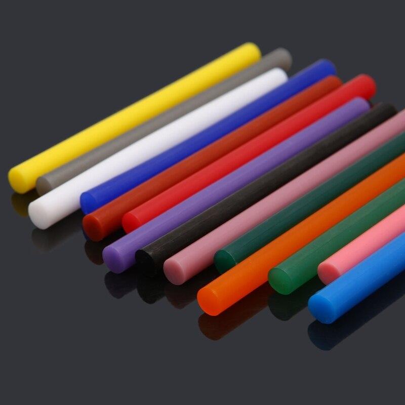 Клей-карандаш для рукоделия, 14 шт., 7x100 мм, смешанный цвет, вязкость 7 мм, инструменты для ремонта игрушек