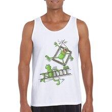 2019 Summer Gym Tank Top Mens Sleeveless Shirt Undershirt Men Fitness Singlet Funny Frog Print Bodybuilding Clothes Hipster Vest кабель type c 1м apple muf72zm a круглый
