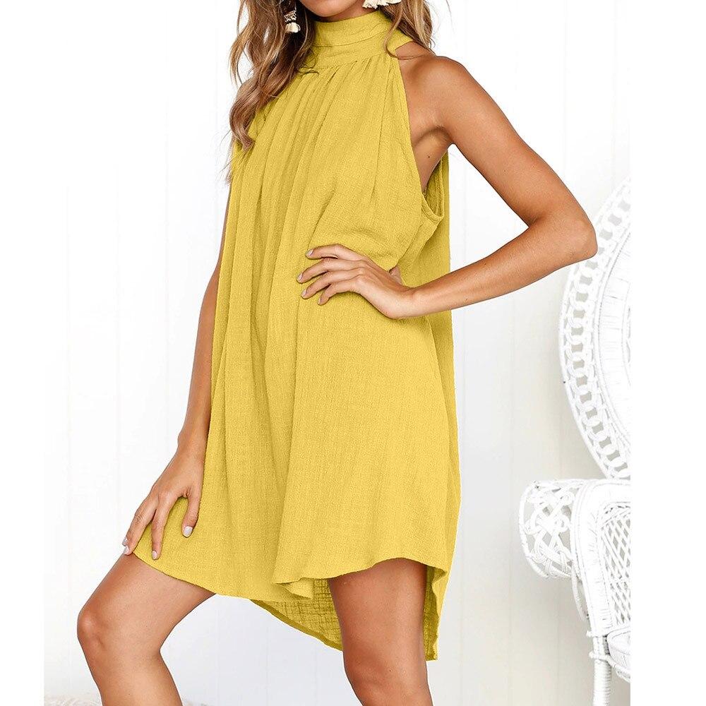 Womens Holiday Irregular Dress Ladies Summer Beach Sleeveless Party Dress vestidos verano 2018 New Arrival dresses for women
