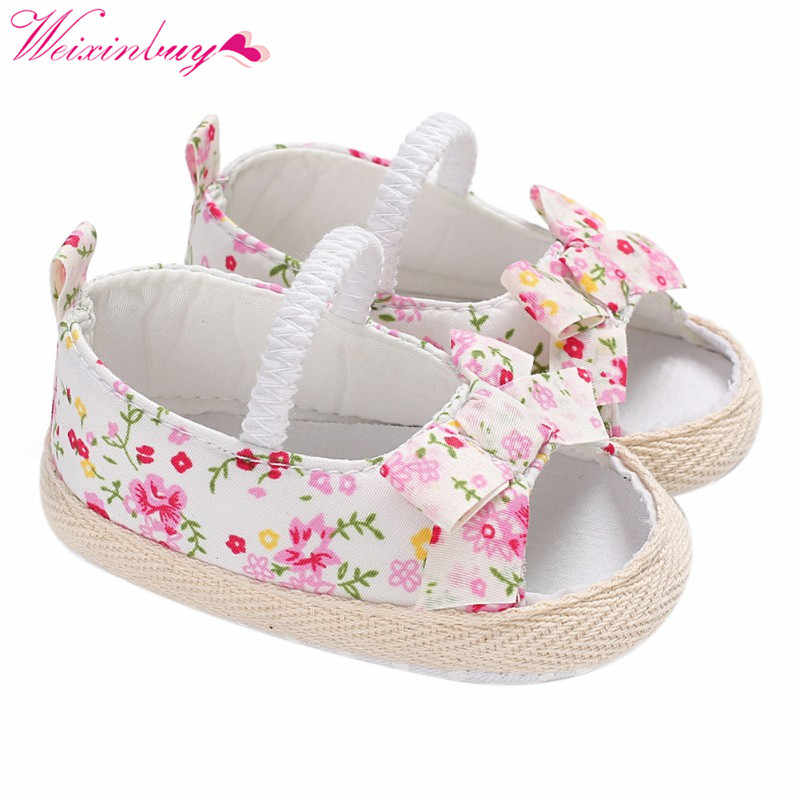 Для девочек детские сандалии, обувь с бантом и сеткой сандалии для девочек пляжная для маленьких девочек; хлопковые мягкие детские сандалии для девочек