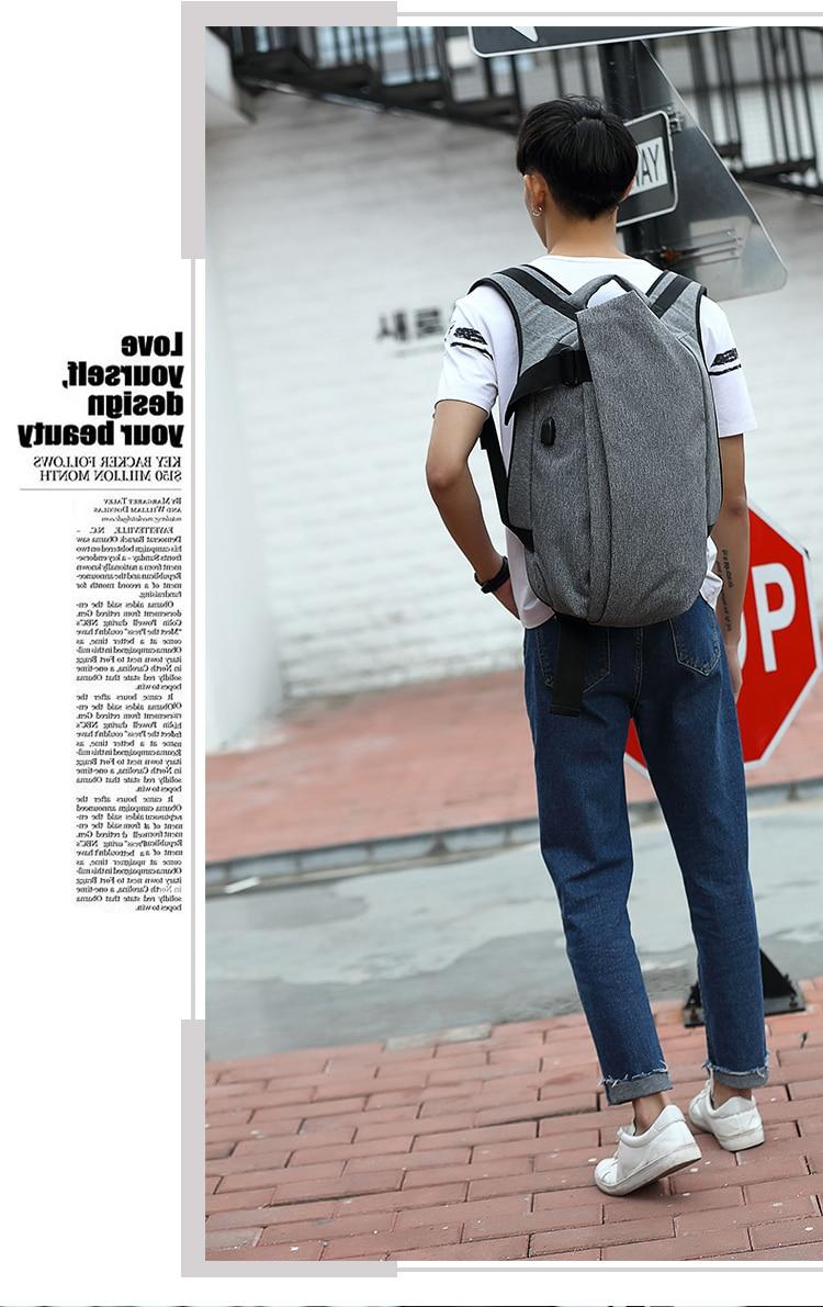 Anti-theft Fashion Men Backpack Computer Notebook School Travel Bag Waterproof