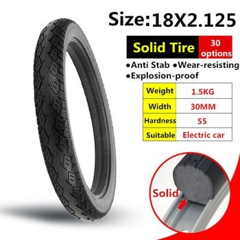 Neumático de coche eléctrico de 18x2.125, neumático sólido, batería de motocicleta Anti Stab, neumático eléctrico de coche
