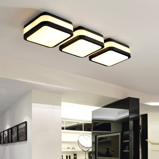 Square Led luminaria Art ceiling light for Study room Entrance balcony Corridor Porch Lamp Modern home office led work Lamparas