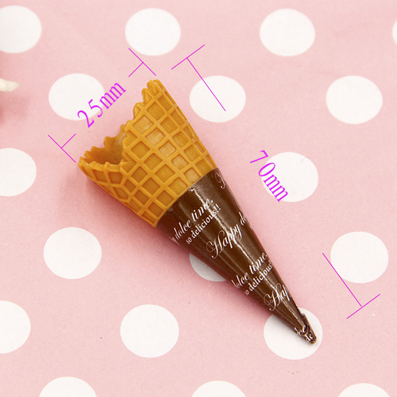 2Pcs 7CM Simulation Food PVC Plastic Crafts Fake Ice-cream Kids Kitchen Pretend Play Props Photography Toys Prtend Play Toy