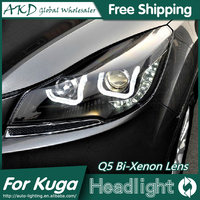 AKD Auto Styling voor Ford Escape Koplampen 2014 Nieuwe Kuga Angel Eye Koplamp DRL Bi Xenon Lens Hoge Dimlicht Parking Fog Lamp