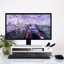 New Desktop Monitor Stand Computer Screen Riser Wood Shelf Plinth Laptop Firm Strong Laptop Stand Holder For Notebook TV