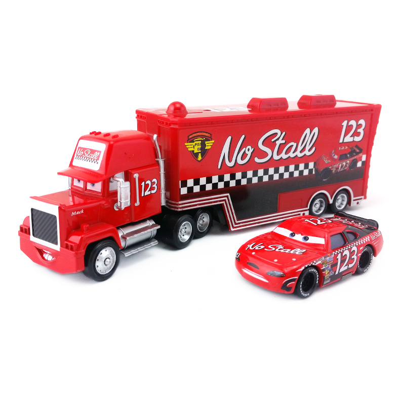Disney  Pixar Cars Mack Uncle & No.123 No Stall Diecast Toy Car 1:55 Loose Brand New In Stock &