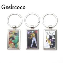 цена на Freddie Mercury kpop keychain personalized car key chain bag charm key ring for patry favors gift couple jewelry presents J0351