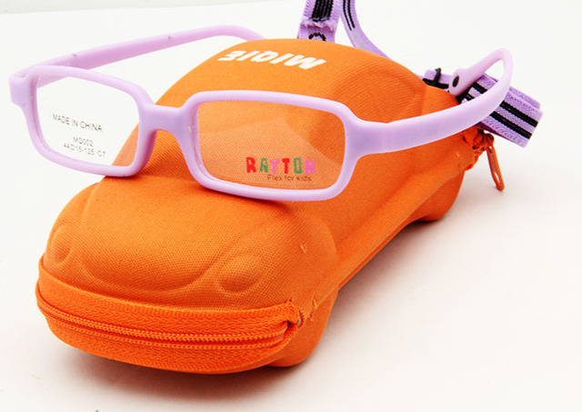 80ab4af3741 Free Shipping Carbon Fiber Kids Glasses Brand Designer Purple Color Kids  Accessories Girls Case