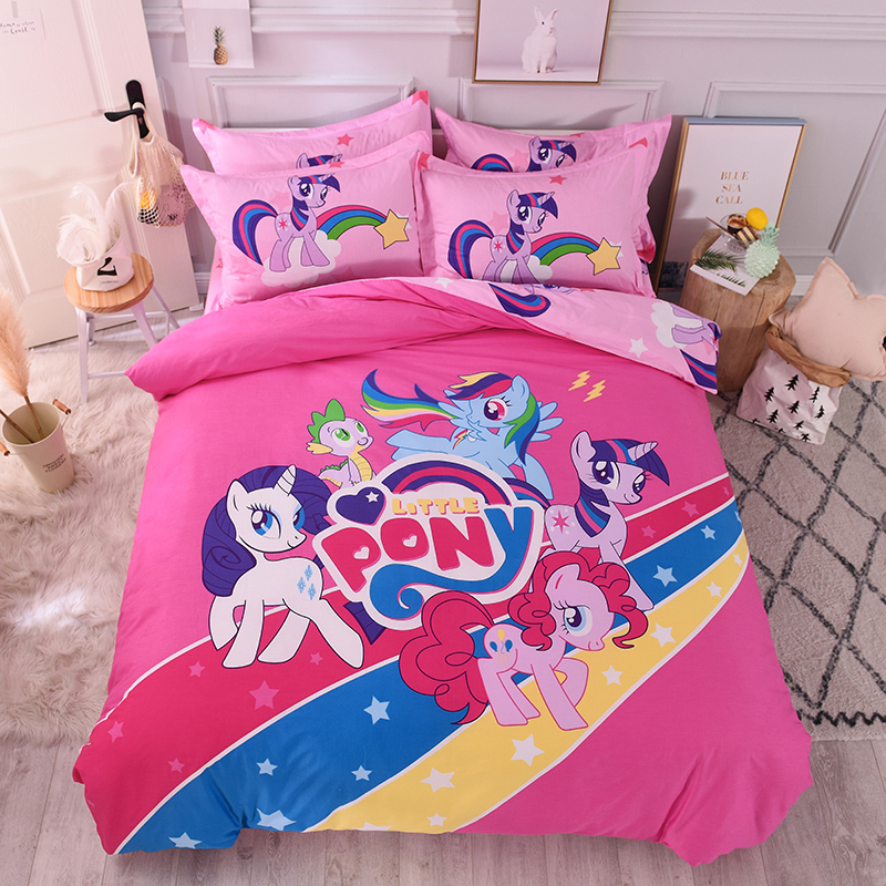 Customer defined Cartoon Exclusive Channel 100 Cotton Bedding Set For Kids Boys girlsTwin Queen Size 3