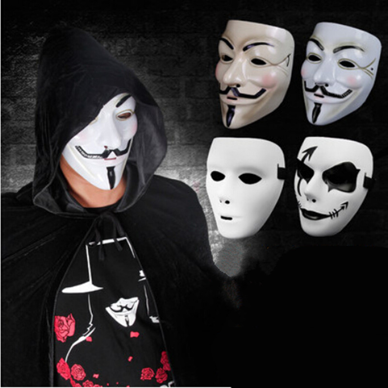 Fun Scary Guy Fawkes Maske V Wie For Vendetta Mask Horrible V Word Mask For Party Halloween Fool's Day Costume Accessory