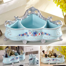Cosmetics storage box creative large European style washbasin resin desktop sorting cosmetic