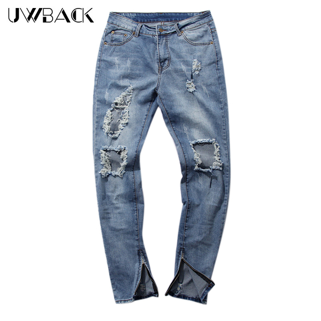 Aliexpress.com : Buy Uwback 2017 New Brand Skinny Ripped Jeans Men ...
